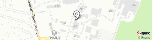 Магазин строительных и отделочных материалов на карте Волжска