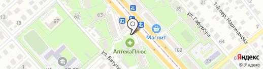 Киоск по продаже фастфудной продукции на карте Ульяновска