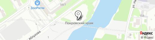 Собор всех святых в земле Симбирской просиявших г. Ульяновска на карте Ульяновска