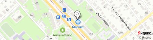 Отражение на карте Ульяновска
