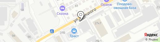 Техпланета на карте Ульяновска