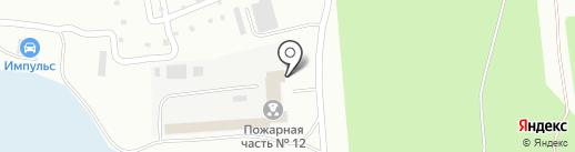 Пожарная часть №12 на карте Волжска