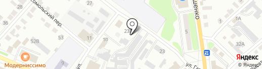 Магазин автотоваров для ГАЗ на карте Волжска