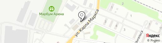 Автобаня на карте Волжска