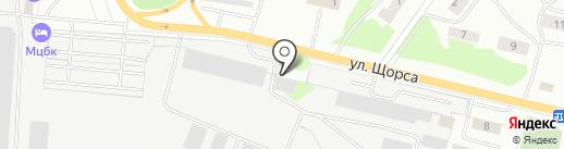 Волжский на карте Волжска