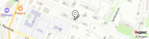 Звенигов на карте Волжска