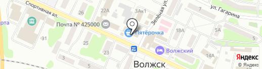 Банкомат, Банк ВТБ 24, ПАО на карте Волжска