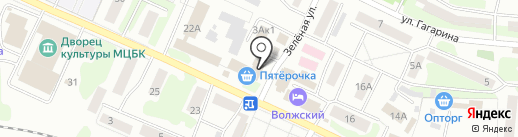 Домакс на карте Волжска