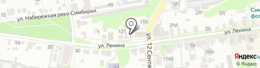 Центр на карте Ульяновска
