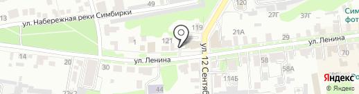 Магазин автозапчастей и автотоваров на карте Ульяновска