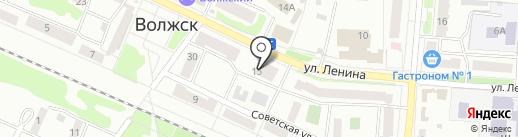 Магазин женской одежды на ул. Ленина на карте Волжска