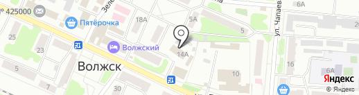 Управление Пенсионного фонда России в Волжском районе Республики Марий Эл на карте Волжска