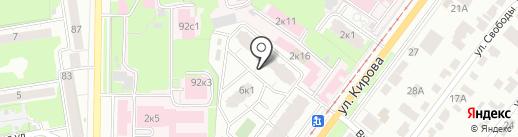 Солнышко на карте Ульяновска