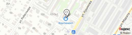 Родас на карте Ульяновска