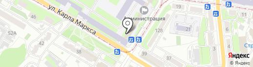 Пункт отбора на военную службу по контракту на карте Ульяновска