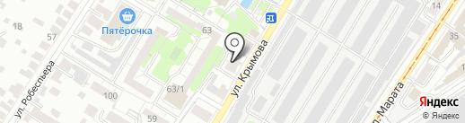 Данила-Мастер на карте Ульяновска