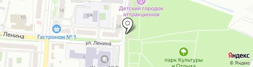 Городской парк культуры и отдыха на карте Волжска