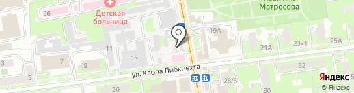 Зеленая улица на карте Ульяновска