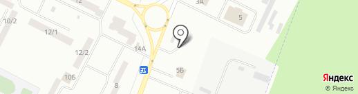 Бекар на карте Волжска