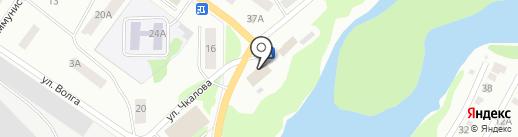 Парикмахерская на ул. Чкалова на карте Волжска