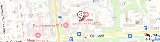 Ресничка на карте Ульяновска