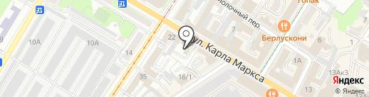 Зодчий на карте Ульяновска