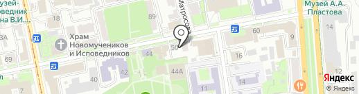 Здравинка на карте Ульяновска
