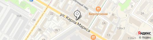 Гравировски на карте Ульяновска
