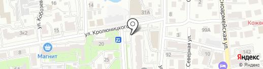 Клевер на карте Ульяновска