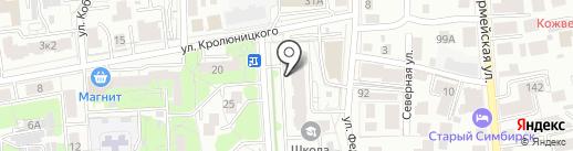 Вектор-К на карте Ульяновска