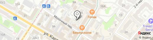 Берег на карте Ульяновска