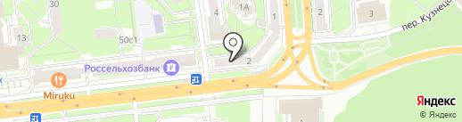 Павлопосадские платки на карте Ульяновска