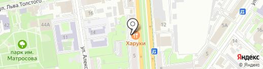 Харуки на карте Ульяновска