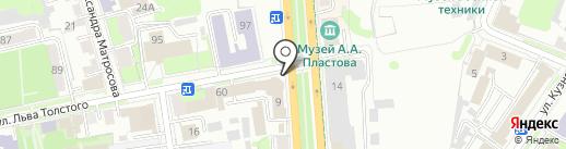 Почтовое отделение на карте Ульяновска