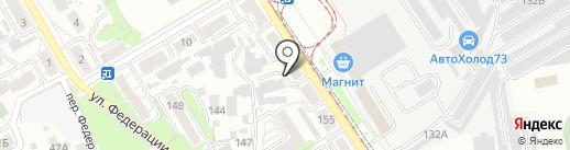 УльГЭС, МУП на карте Ульяновска