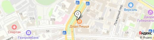 На Гончарова, 30 на карте Ульяновска