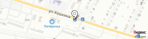 Киоск по продаже печатной продукции на карте Волжска