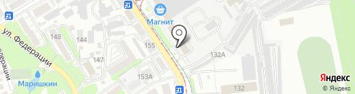 Энион на карте Ульяновска