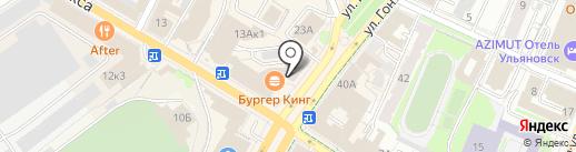 ЮМЦ на карте Ульяновска