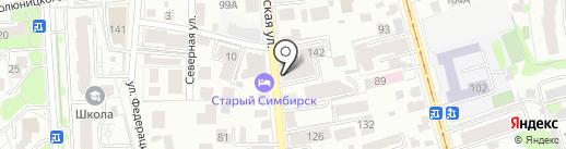 Адеко на карте Ульяновска