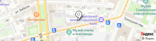 Управление Государственного автодорожного надзора по Ульяновской области на карте Ульяновска