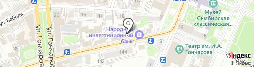 Миэль на карте Ульяновска