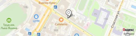 Стелла на карте Ульяновска