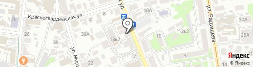 Магазин автозапчастей для иномарок на карте Ульяновска
