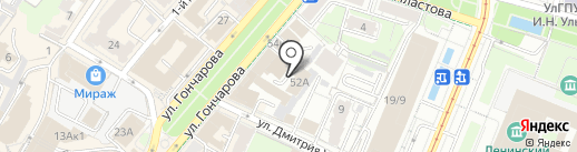 Спортивная школа по сноуборду на карте Ульяновска