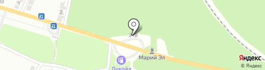Шиномонтажная мастерская на карте Волжска