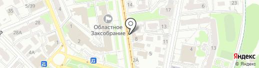 Управление Министерства юстиции РФ по Ульяновской области на карте Ульяновска