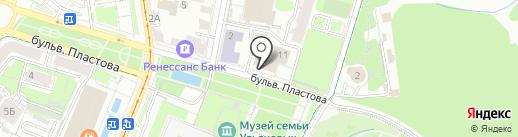 Буревестник на карте Ульяновска