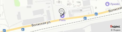 Автомойка на Волжской на карте Зеленодольска
