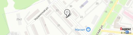 Милана на карте Зеленодольска